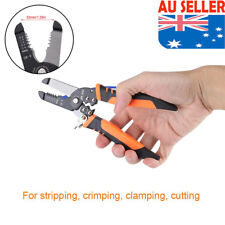 Cable Wire Stripper Crimping Plier Cutter Stripping Crimper Hand Cutting Tool AU