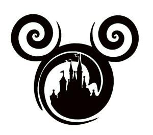 Mickey Castle Ears Vinyl Sticker / Bottle / Tablet / Laptop / Fun Decal