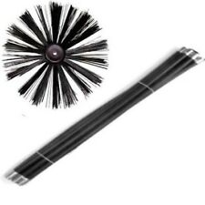 EXTRA LONG  Chimney Flue Cleaning Brush Sweep Sweeping Set Kit 12 Drain Rods