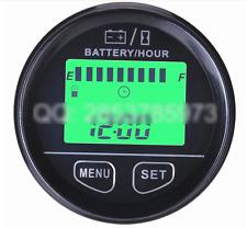 Battery Monitor Hour Meter Tester 12V 24V 36V 48V RSOC Surplus Capacity Percent