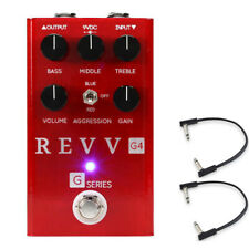 Revv Amplification G4 Distortion Pedal w/ (2) Flat Patch Cables