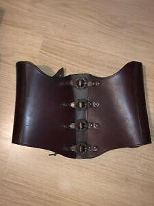 Korsage aus Leder von Mittelaltermarkt