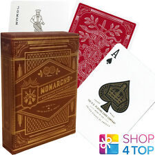 MONARCHS THEORY 11 PLAYING CARDS DECK RED GOLD MAGIC TRICKS SEALED NEW