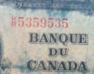 Great Palindrome ! 5359535  Canada 2 Dollars 1937 King George VI, Circulated