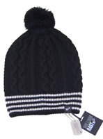 William Rast Women's Cable Knit Hat beanie one size  Black