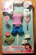 Dora's Explorer Girls Tennis Sports Styles Outfit Doll Clothes - New/Unopened