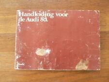 AUDI 80 HANDLEIDING OWNER'S MANUAL INSTRUCTION BOOK 1980 CAR AUTO