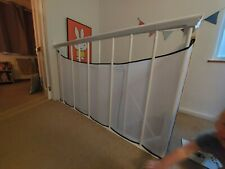 Stairway safety net mesh bannister guard