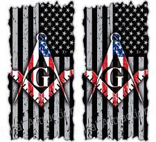 Distressed American Flag Masonic Cornhole Cover Vinyl Decal sticker wrap mason