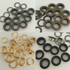 100 Black Silver Brass Eyelets w/Wash Leather Craft Grommet 3.5/4/5/6/8/10 mm