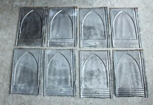 EIGHT Stamped Tin ANTIQUE VICTORIAN Roof Tiles CEILING TILES