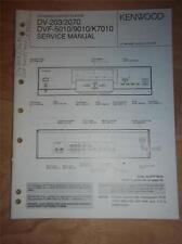 Kenwood Service Manual~DV-203/2070~DVF-5010/9010/K7010 CD/DVD Player~Original