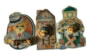 Vintage Cherished Teddies Resin Lapel Pins Lot of 3 1994 to 1996 Enesco