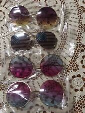 Halloween Unisex Round America  Lens Sunglasses Funny Glasses Party Prop 4 total