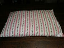 Vintage Pink Rose Ticking Stripe Standard Down Feather Bed Pillow