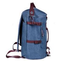 Men's Vintage Canvas Backpack Rucksack Laptop Shoulder Travel Hiking Bag