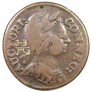 1785 3.3-F.3 R-4 Connecticut Colonial Copper Coin