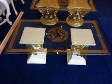 Medusa Tisch Glastisch Wohnzimmertisch Barock Säulen Wohntisch 10/34 k141 NEU