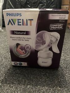 Philips Avent Natural Comfort Breast Pump and Bottle New