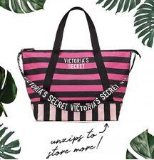 Victoria's Secret Striped Getaway Weekender Tote Bag