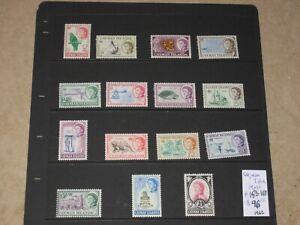 Cayman Islands 1962 QEII MNH Set Scott 153->167 CV$96+