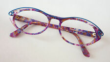 Glasses Frames Large Purple Pink Blue Cat's Eye fetzig Ladies SizeM