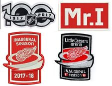 DETROIT RED WINGS PATCH SET 2017-18 INAUGURAL SEASON + CEASARS + 100TH + MR. I