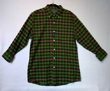 1888 Saddlebred Vintage Oxford Mens Button Down Long Sleeve Green Wine NWT  (C7)