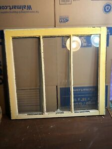 "Antique Vintage Architectural  Salvage Window with Glass 27"" by 30"""