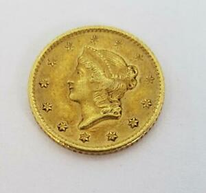 1849 O US GOLD $1 Type-1 scratches both sides L10635