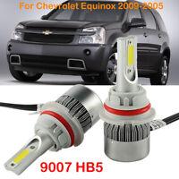 2PCS 9007 HB5 LED Headlight Kit Bulbs For Chevrolet Equinox 2009-2005 Hi/Lo Beam