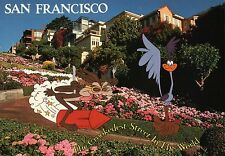 """Wile E. Coyote & Road Runner in San Francisco CA - 7"""" x 5"""" Looney Tunes Postcard"""