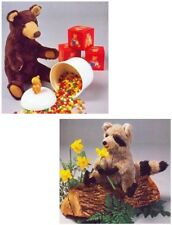 Teddy Bear & Raccoon Soft Toys DIAGRAM Sewing Pattern S10092 NOT FINISHED ITEMS