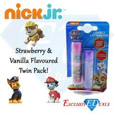 Paw Patrol Lovely Lip Balms Strawberry & Vanilla Moisturising Childrens 2 Pack