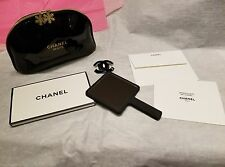 6 piece Chanel Beaute Snowflake charms Cosmetic Makeup Bag Mirror Gift Hair Tie