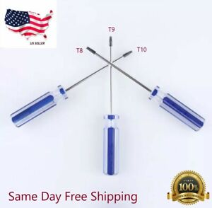 T8/T9/T10 Tamper Proof Screwdriver Security Torx Driver Disassembly For XBOX PS3