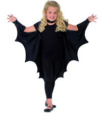 Childs Unisex Halloween Fancy Dress Bat Batwing Cape Kids Black Wings by Smiffys
