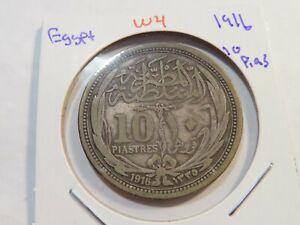 W4 Egypt 1916 10 Piastres