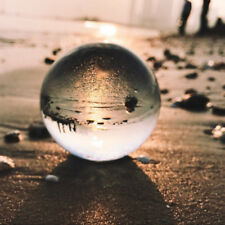 Glass Clear Crystal Ball Photography Photo Prop Background Sphere 80mm For Gifts