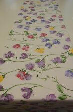 Decorative Table Runner - Pretty Sweet Peas   148cm x 35cm