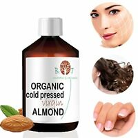 CERTIFIED ORGANIC Cold Pressed Sweet Almond Oil 100 Pure 100 ml