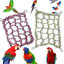 New listing Parrot Pet Birds Climbing Net Swing Hanging Hammock Perch Hamster Rope Cage Toy