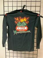 Terry McMillen AMALIE Racing Gator with flames Long Sleeve T