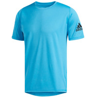 ADIDAS Men's FreeLift Ultimate Short-Sleeve Tee - SHOCK CYAN DU - Extra Small