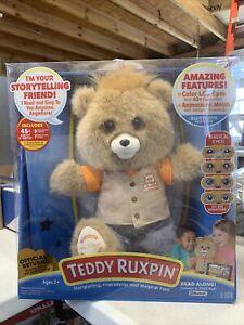 "NEW IN BOX Teddy Ruxpin 14"" Talking Reading Plush Bear NEW W/ BOX DAMAGE"