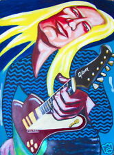 JOHNNY WINTER PRINT poster gibson firebird guitar second cd nothin but the blues
