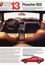 1982 Porsche 928 No13 - Classic Vintage Advertisement Ad A84-B