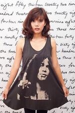 GUNS N' ROSES SLASH Finger Flip Rock ART Women DRESS T-SHIRT Tank Top Size M L