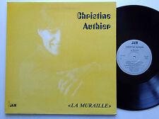 Christine AUTHIER La muraille LP Disques JAM  (1984) chanson jazz NMINT/EX+