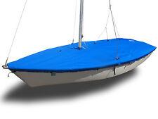 Laser II Sailboat - Boat Mast Up Flat Cover - Blue Sunbrella SLO Sail and Canvas
